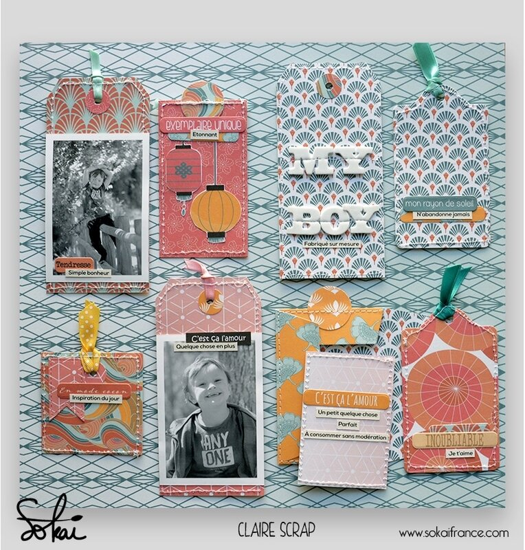 mini tag Maé - collection So'leil levant- tag verso - claire scrapathome - sokai