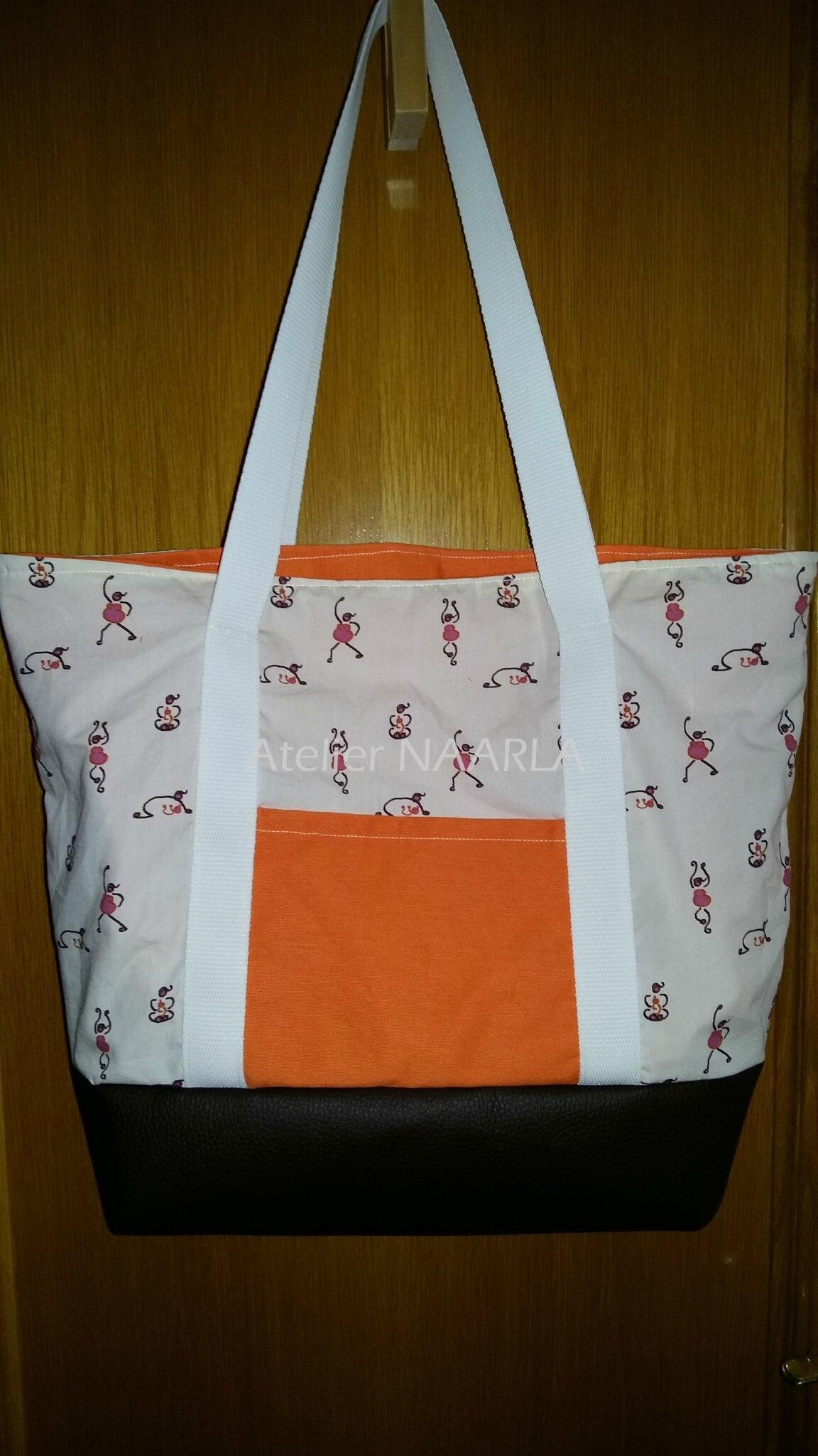 Bolso con tela personalisada/ Sac avec tissus personnalisé