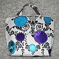 Tuto pour coudre un sac en papier peint, appliqués de tissus et rubans