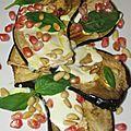 Aubergine grillées et yaourt au safran