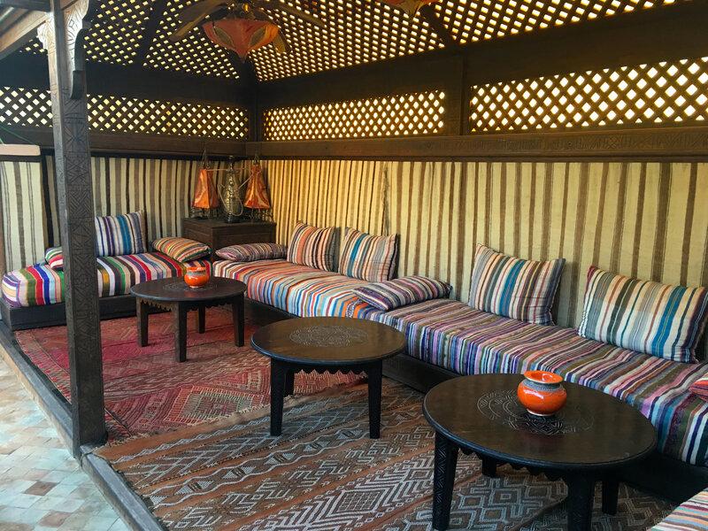 notre petit salon en terrasse au Riad Ghali