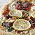 Carnet estival - pizza au citron