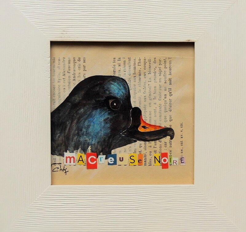 aquarelle macreuse noire - Charlotte Keraudren