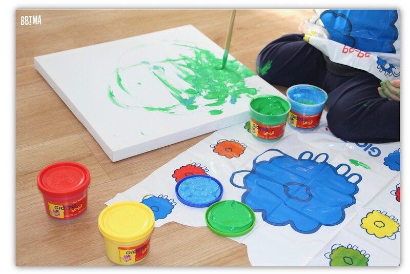 7 Giotto peinture doigt activité enfant kids ambassadrice loisirs créatif tableau art créativité imagination lavable à l'eau bbtma blog parents famille