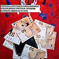 Vrai porte-monnaie magique d'argent multiplicateur de billets de banque en euros: richesse immédiate en france