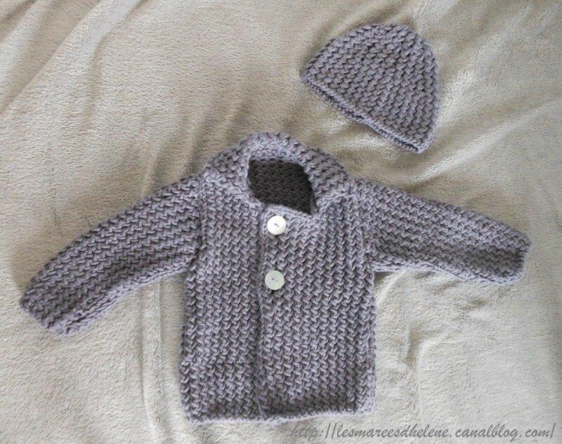 Ensemble layette tricot 2014