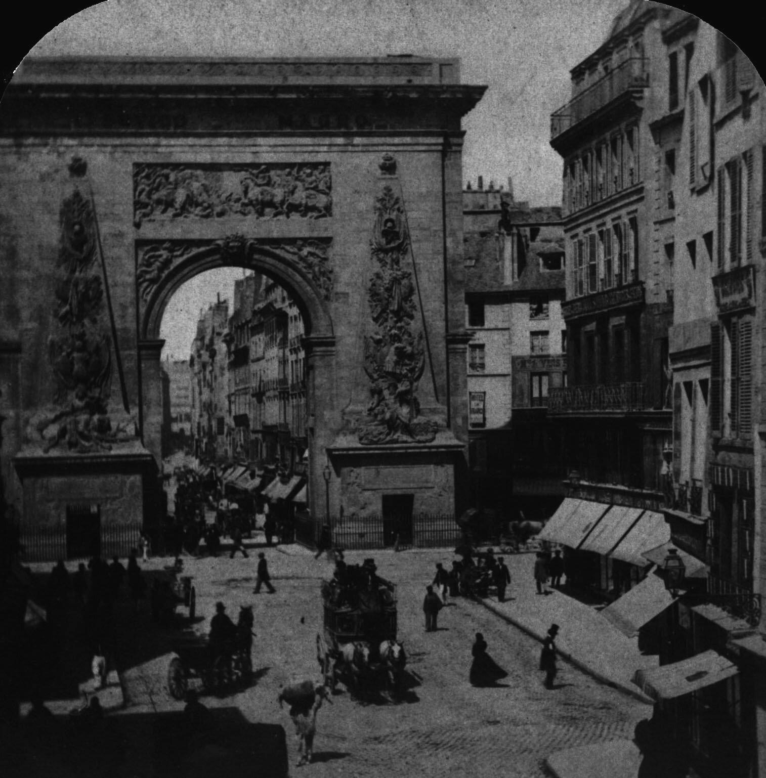 1852-1870 Rue et porte Saint-Denis