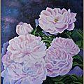 Fleurs roses acrylique