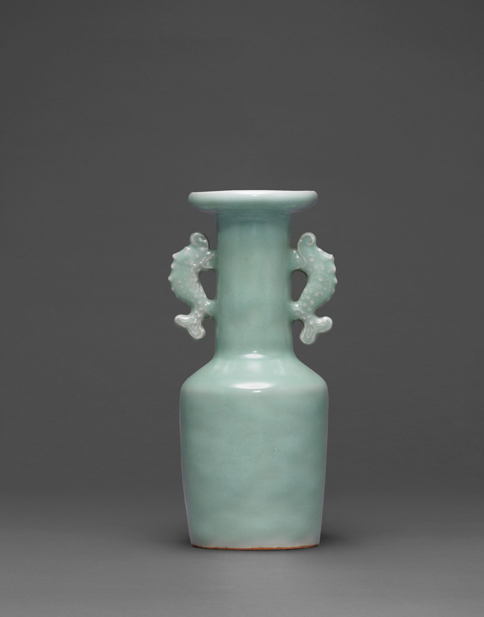 A Longquan celadon mallet-shaped vase, Southern Song-Yuan dynasty (1127-1368)