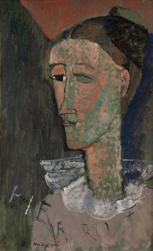 amedeo_modigliani_selbstbildnis_als_pierrot_1915_statens_museum_for_kunst