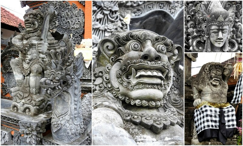 sculptures à tanah lot