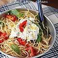 Spaghetti à l'ail et au citron