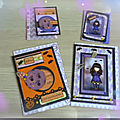 Halloween : atc + cartes assorties