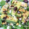 Salade de courgettes et roquette , vinaigrette balsamique