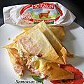 Samossas au chèvre et bacon