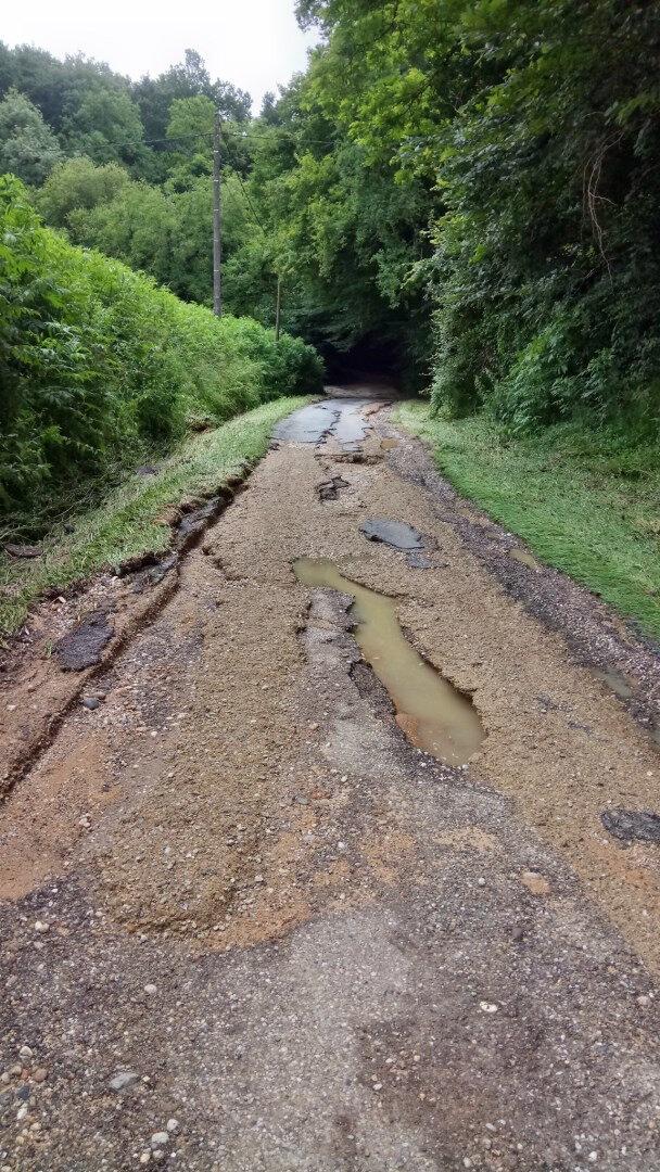 Route de JAUTAN après l'orage juillet 2018 (2)