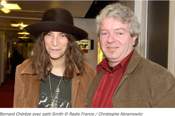 Bernard Chérèze et Patti Smith