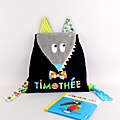 Sac à dos enfant personnalisé Timothée sac loup personnalisable couleurs prénom rentrée école maternelle crèche nounou sac à dos bébé cadeau baptême