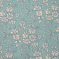 Tissu liberty turquoise capel
