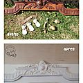 Transformation d'un grand fronton chiné pour 2 €...