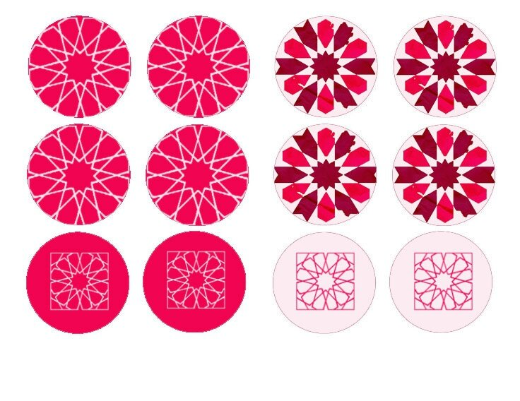 cupcake toppers roses