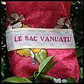 Le sac à cadeaux vanuatu chez cécile