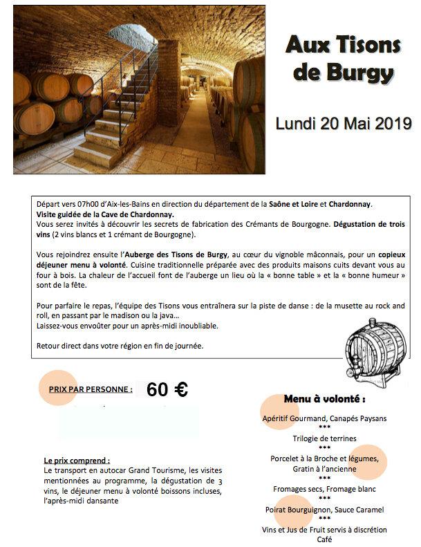 sortie Aux Tisons de Burgy