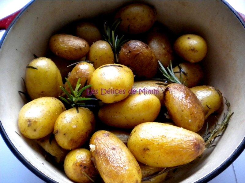 Cocotte de pommes de terre grenailles au romarin 3