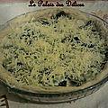 Pizza aux poireaux/épinards-gruyère