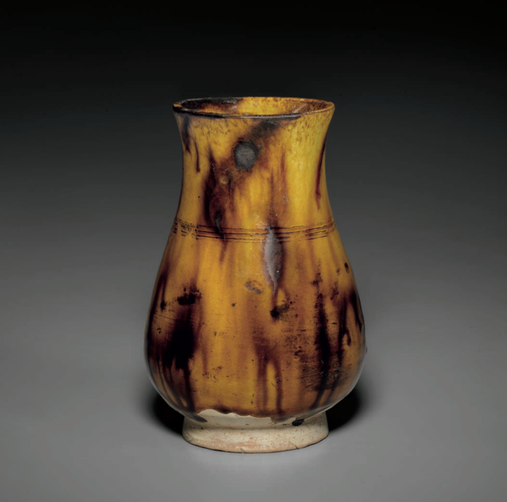A brown-splashed yellow-glazed 'Tiger skin' vase, Southern Song dynasty (1127-1279)