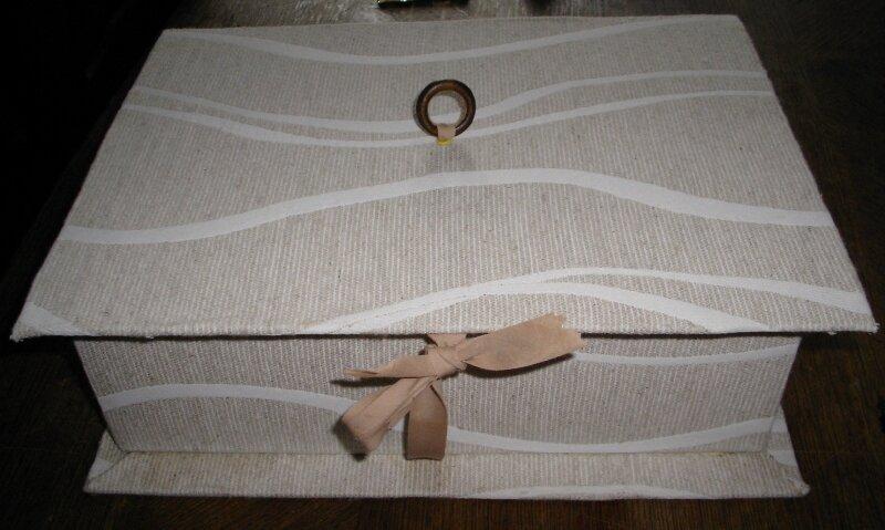 boite couture tissu beige 1