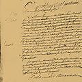 Le 24 septembre 1790 à mamers : délibération sur requête du district.