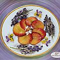 Beignets de fleurs de glycine en tempura et carpaccio de nectarines !