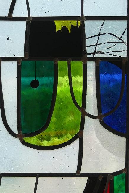 détail vitrail moderne - Aurélie Dupin