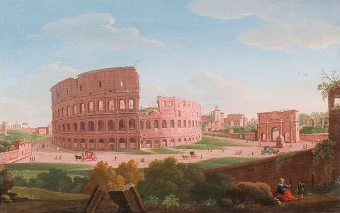 2020_CKS_19588_0008_000(giacomo_van_lint_a_view_of_the_colosseum_rome_with_figures_and_carriag)