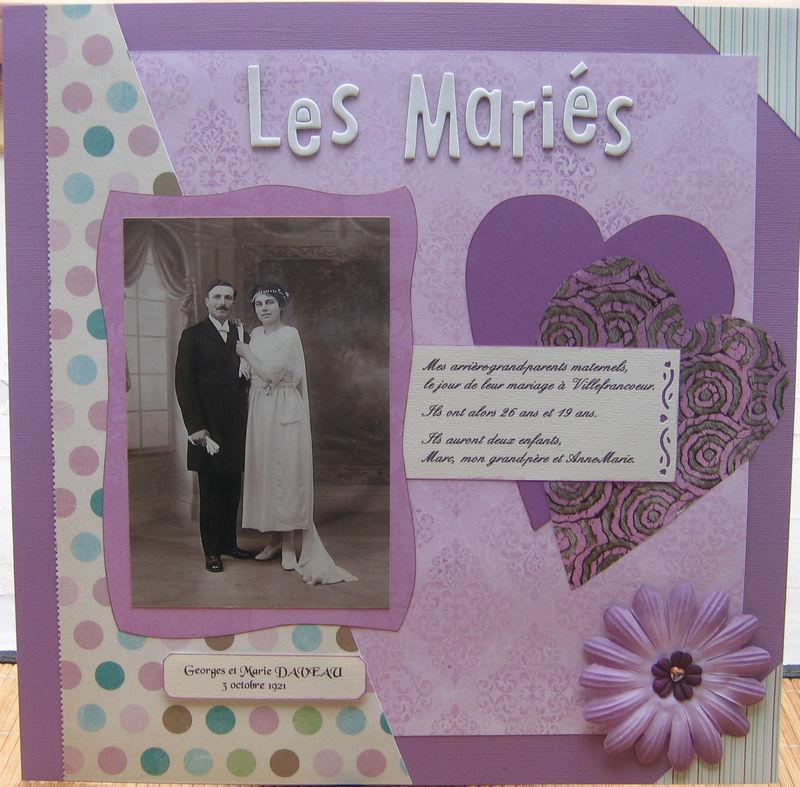 (2007) Mariage de mes arrière-grand-parents maternels