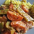 Un curry de poulet à la saveur cacahuète... trop bon
