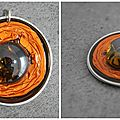 Pendentif orange à pierre
