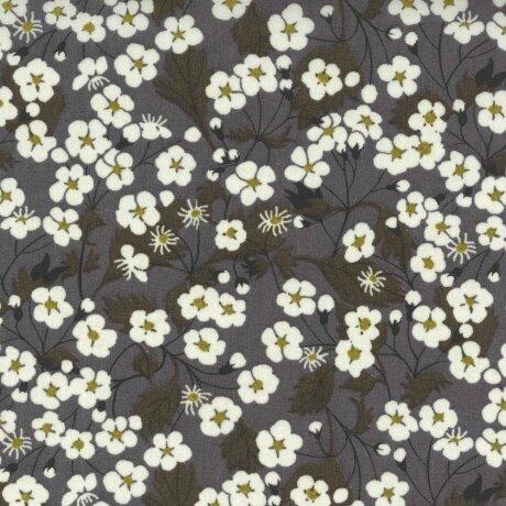 Tissu LIBERTY Mitsi gris (34t6029d)