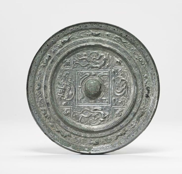 An important bronze 'Zodiac' mirror with inscription, Sui dynasty