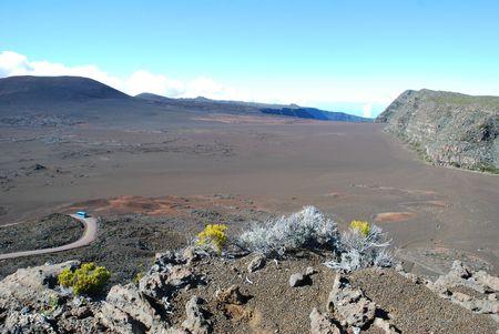 Béa sur la route du volcan à La Réunion