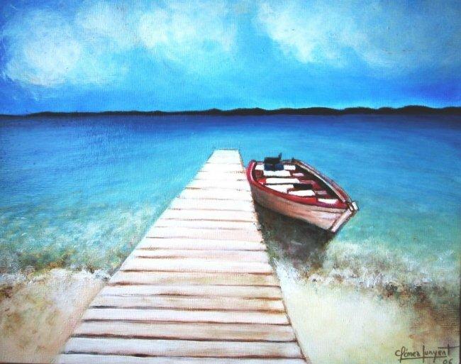 1493385_Pintura_La_Barca_solitaria_-ok
