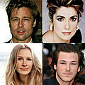 Brad Pitt-Catherine Deneuve-Julia Roberts-Gaspard Ulliel