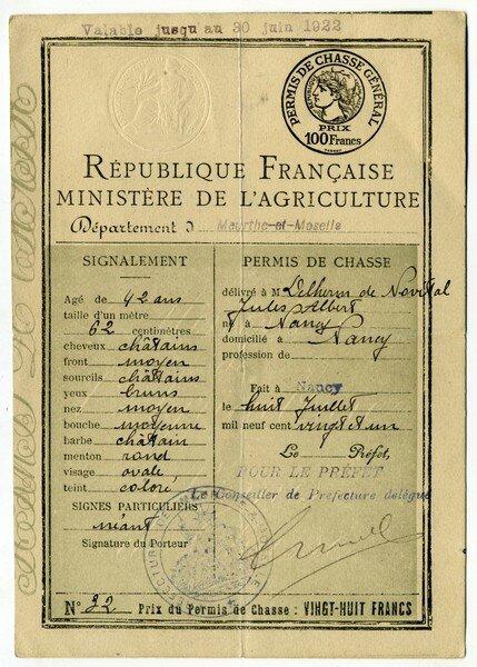 Chasse 1921 gen