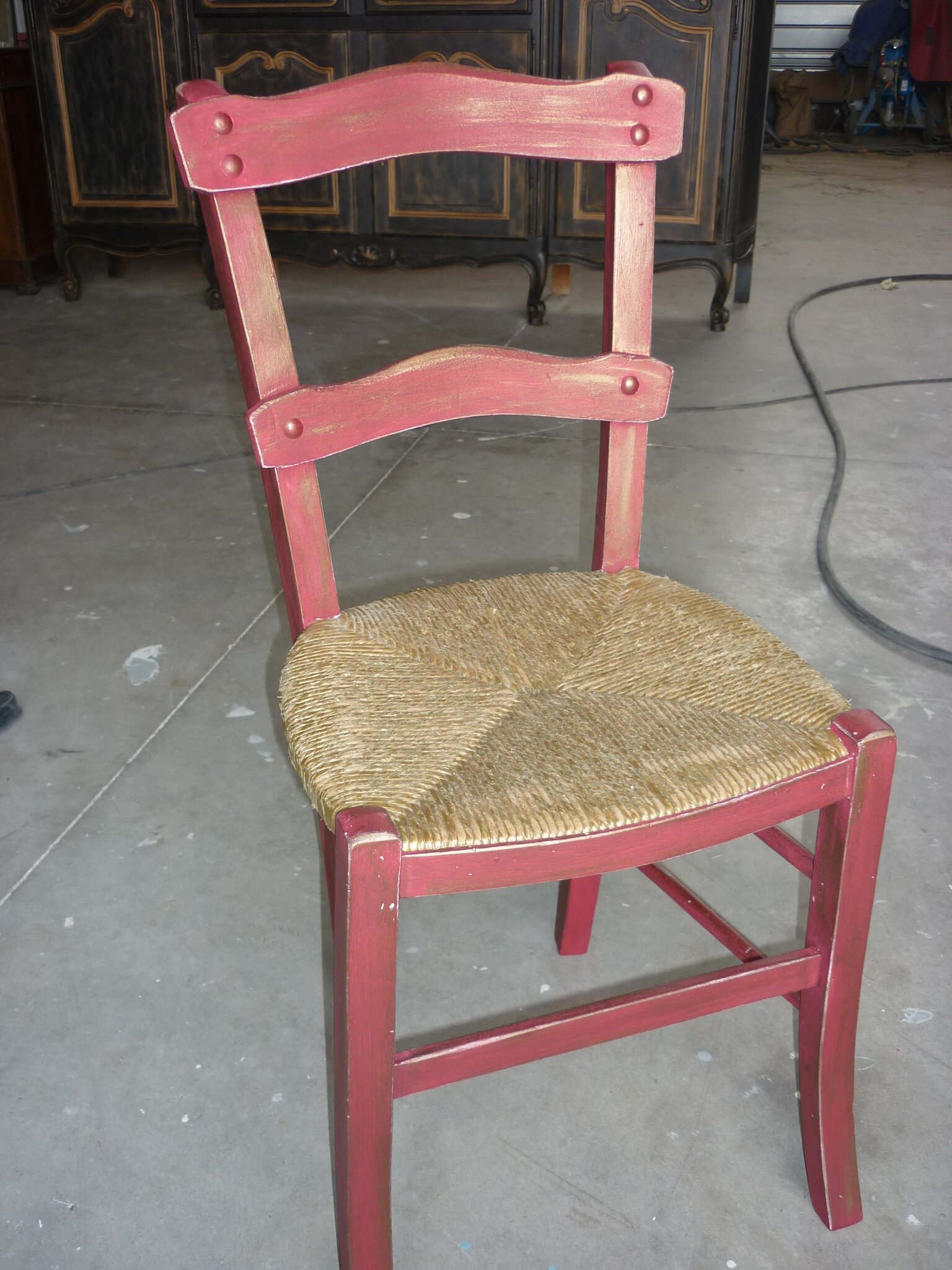Tags Relooking Chaise Campagne Canee Rouge Lozere Mende