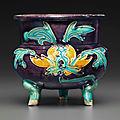 AFahuatripod censer, Ming dynasty, 15th century