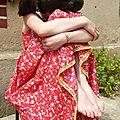 La petite robe à fleurs de mademoiselle...
