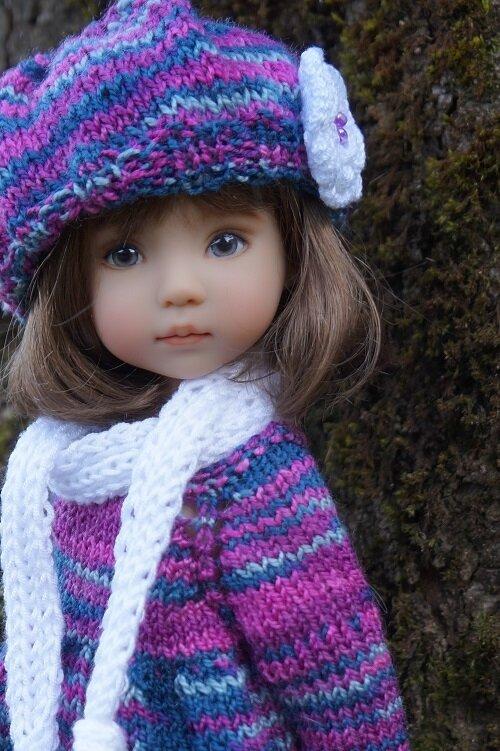 Vives les couleurs et les tricots pour Ana , Little Darling de Dianna Effner
