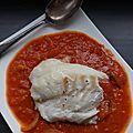 Dos de cabillaud au curry tomates et lait de coco