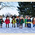 Les enfants gripettes veulent sortir malgré le froid - gripettes kids want to go out despite the cold